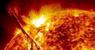 erupción del sol
