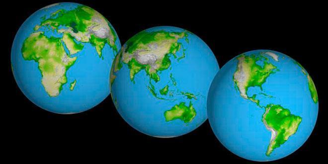 tierra continentes